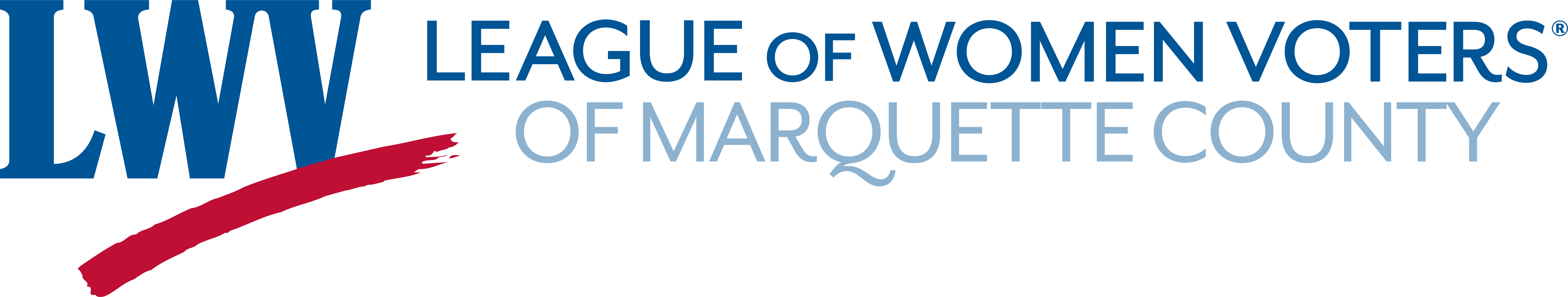 Logo for League of Women Voters of Marquette County